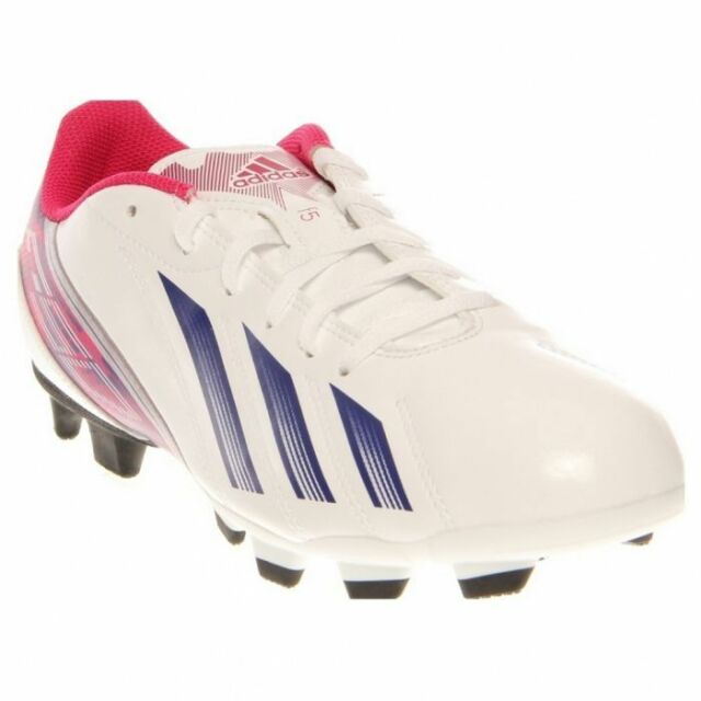 detailed look e29c1 67409 adidas F5 TRX FG Women s Soccer Cleats Shoes White Blue Pink Size 10 ...