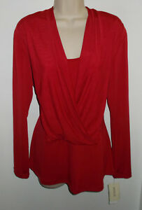 WOMENS-TOP-SIZE-LARGE-ECI-NEW-YORK-TRUE-RED-STRETCH-NEWw-TAGS-RETAIL-60