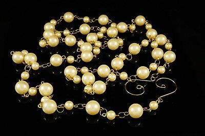 Comprar Barato Beaded Ivory Pearl Garland Holiday Christmas Floral Wedding Event Decor Aroma Fragante