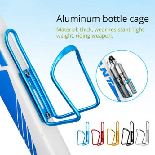 2PCS Aluminum//Plastic MTB Road Bike Bicycle Water Bottle Cage Drink Cup Holder