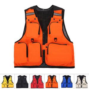 Mens-Multi-Pocket-Sports-Fishing-Hunting-Utility-Vest-Waistcoat-Jacket-L-XL-3XL