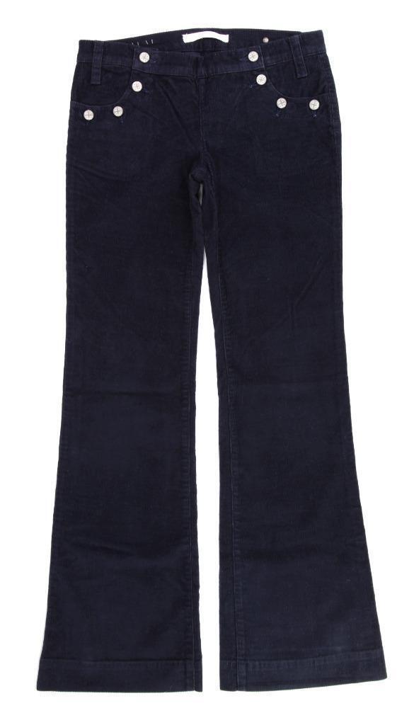 Freedom of Choice Dark bluee Corduroy Jeans, Flare Button Close Sz 29 Womens NWT