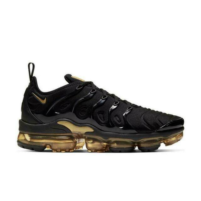 Size 9 - Nike Air VaporMax Plus Black Gold - CW7299-001