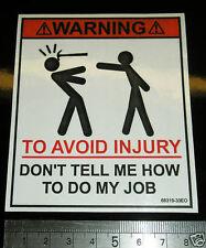 tool box sticker fun hammer warning decal toolbox joiner carpenter roofer etc