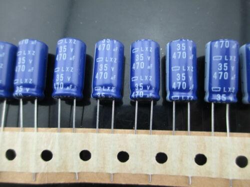 10pcs Nippon Chemi-Con NCC LXZ 470mfd 35V 470UF electrolytic Capacitor