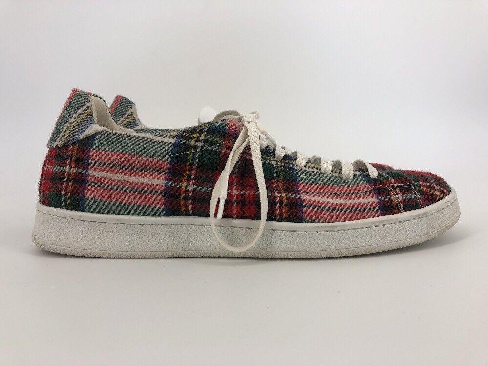 JOSHUA'S  NY Red & Green Plaid Tennis Sneaker shoes EUR 40 US 9 (B4)