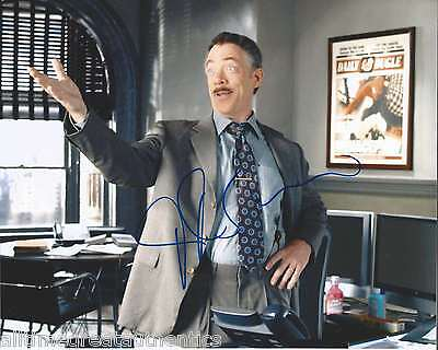 Simmons Signed Authentic Spiderman 8x10 Photo F W/coa Whiplash Juno Proof Top Watermelons J.k Autographs-original
