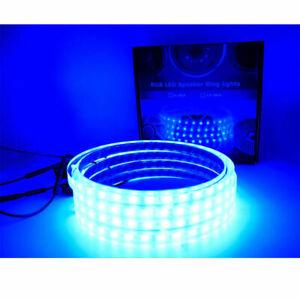 "Details about 9 x 9.9"" Speaker Ring RGB MultiColor LED 9/9"" Spacer  Waterproof Marine Light 99V"