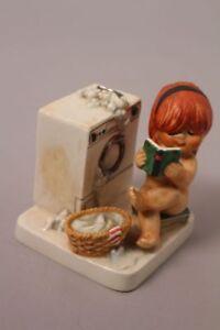 Goebel-034-Charlot-034-Byj-74-Rothaariges-Girl-Wash-Day-Washing-Machine-Books