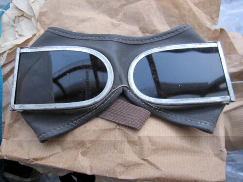 OLD USED ORIGINA CHINESE ARMY MARTIAL GOGGLES GLASSES DARK