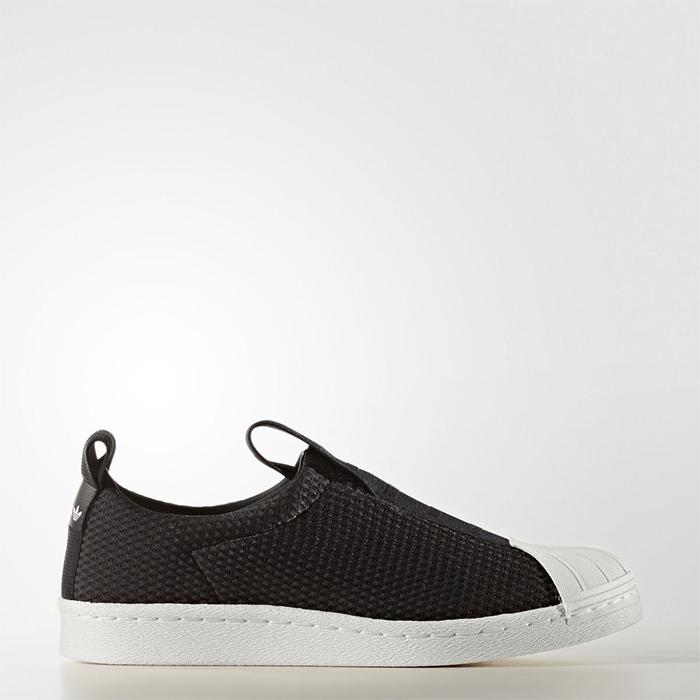 New Adidas Original donna Superstar BW3S Slip On BY9137 nero US W 5 - 10 TAKSE