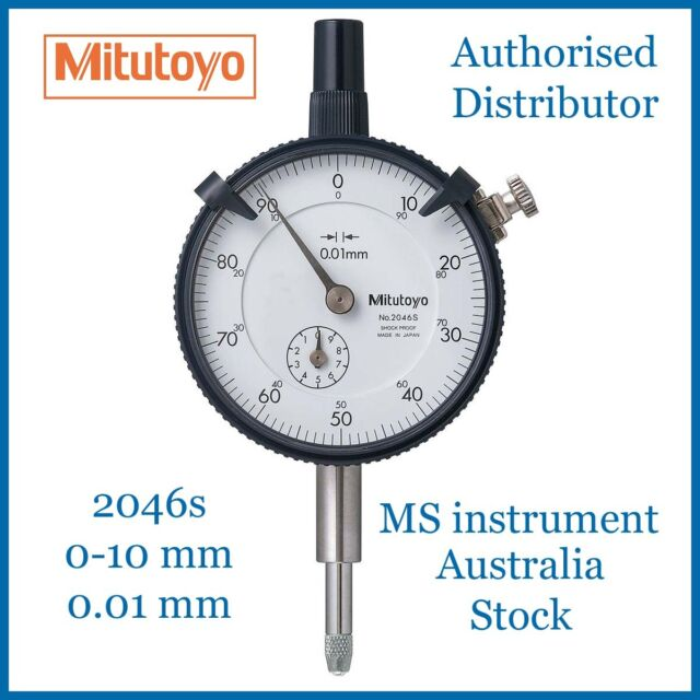 Genuine New Mitutoyo 2046S Dial Indicator 10mm Australia Stock