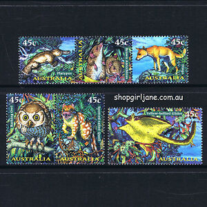 1997-Australia-Creatures-of-the-Night-set-of-6-MNH