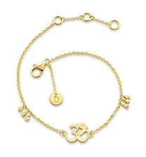 Daisy London Jewellery NEW! 18ct Gold Plated Om Good Karma Bracelet