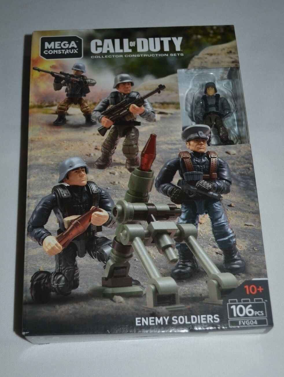 GERMAN SOLDIER  MORTAR LAUNCHER LOOSE ENEMY TROOPS FIGURE MEGA CONSTRUX  X48//1