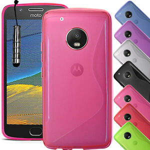 promo code 9799b 6ad75 Details about For Motorola Moto G5 PLUS - Soft Slim Silicone Gel Rubber  Case Cover + Stylus