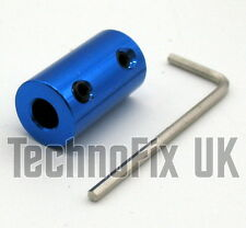 Rigid 6mm metal shaft coupler for variable capacitor ATU, VFO, linear etc.