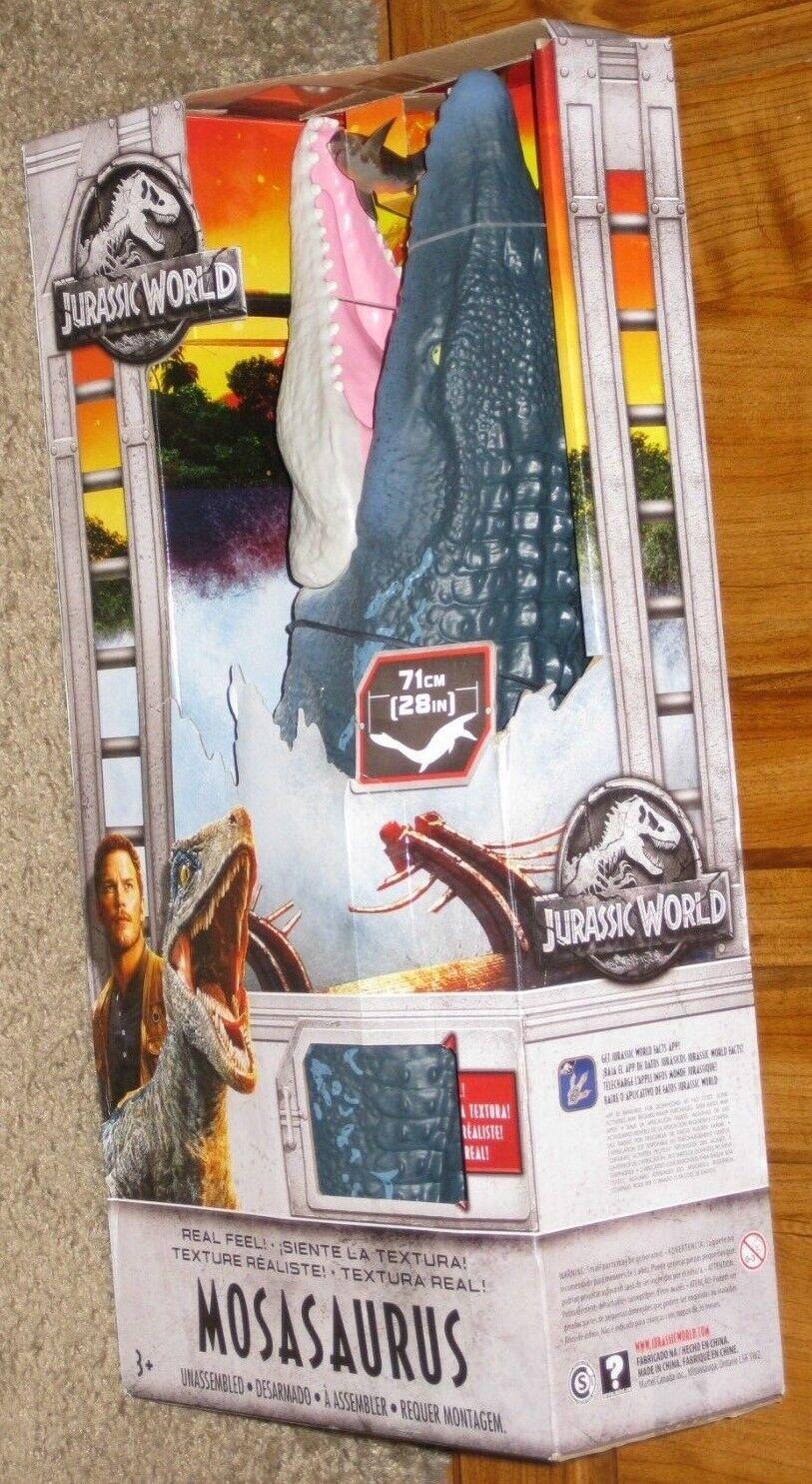 Mattel 2018 Jurassic World Fallen Kingdom Real Feel Mosasaurus 28  Action Figure