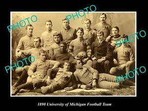 OLD-LARGE-HISTORIC-PHOTO-OF-THE-UNIVERSITY-OF-MICHIGAN-FOOTBALL-TEAM-c1890