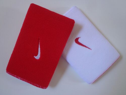 Nike Premier Home /& Away Doublewide Wristbands Red//White OSFM New