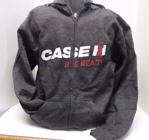 """Case IH /""""Be Ready/"""" Mens Heather Gray Zip Hoodie"""