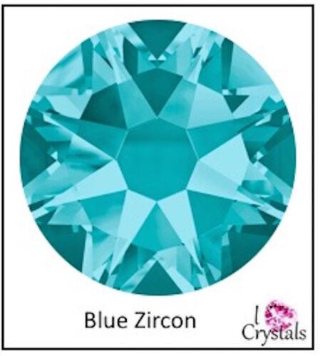 BLUE ZIRCON 12ss 3mm 144 pcs SWAROVSKI Crystal Flatback Rhinestones 2088 Xirius