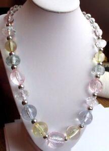 Collier Rétro Top Qualité Bijou Vintage Perle Translucide Taillée Et Argent 2353 Pour Aider à DigéRer Les Aliments Gras