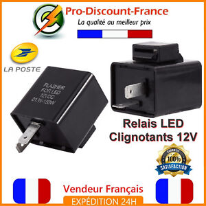 relais centrale clignotant led moto scooter quad 12v anti erreur 2 broches leds ebay. Black Bedroom Furniture Sets. Home Design Ideas