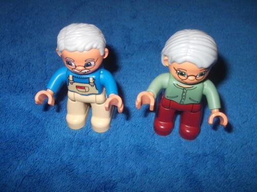 Lego Duplo Ville 1 X Figur Männchen Oma Grossmutter Brille graue Haare Opa Wow