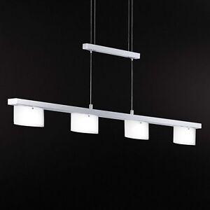 Wofi-LED-Pendelleuchte-Avance-4-flg-Chrom-Glas-weiss-Dimmbar-19-2-Watt-1640-Lumen
