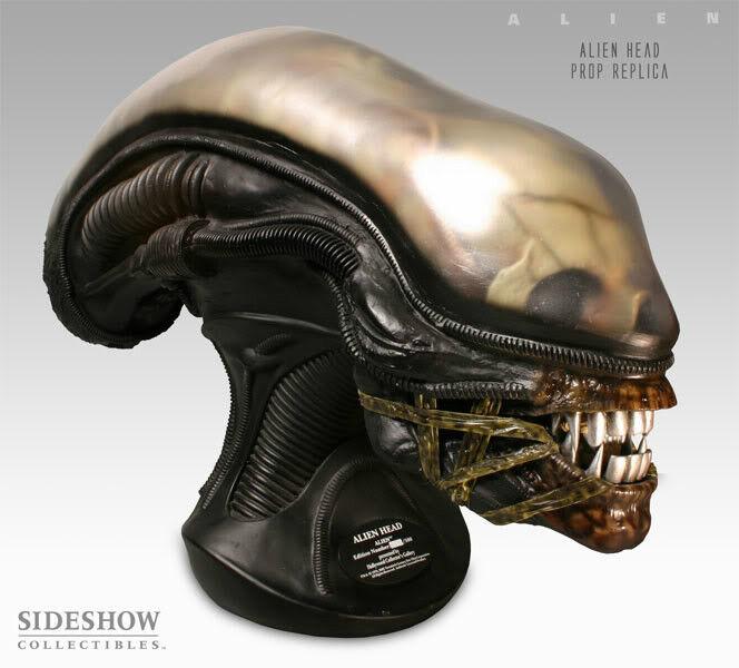 Alien Head 1 1 Skala Replik Bust By Sideshow Ltd Ed 500 Hollywood Collectibles