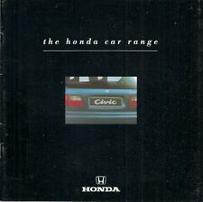 Honda 1991-92 UK Market Brochure Civic CRX Concerto Accord Prelude Legend NSX