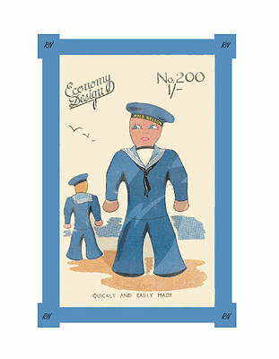 Vintage HMS Nelson Sailor Boy Doll Sewing Pattern No. 200