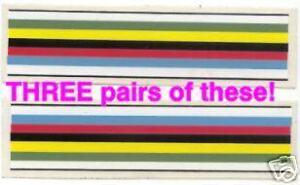 Cycling World Champion Rainbow Stripe Decals 110x30mm 2 stickers