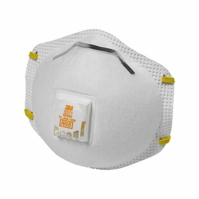 3m pro sanding and fibreglass vented respirator 8511 1 mask n95