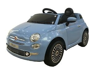 Kids Electric Ride On Toy Car Fiat 500 12v With Parental Remote And