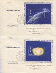 DDR Block 20-22 je auf Ersttagsbrief (FDC) 1964 absolut top erhalten (B07634)