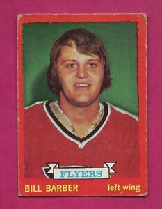 1973-74-OPC-81-FLYERS-BILL-BARBER-ROOKIE-VG-CARD-INV-A5842
