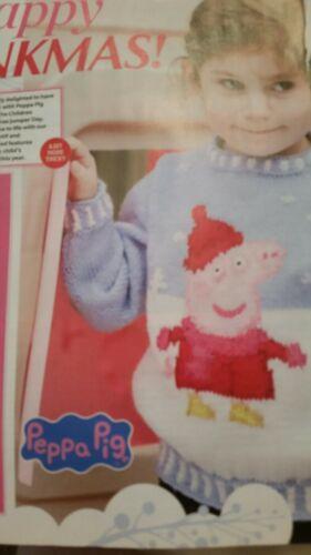 PEPPA PIG Christmas Jumper Sweater knitting pattern