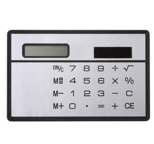 5PCS 8 Digits Ultra Thin Slim Credit Card Solar Power Pocket Calculator