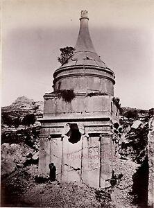 Gerusalemme Palestina Israele Foto Albumina Stampa Verso 1890 Piccolo Format