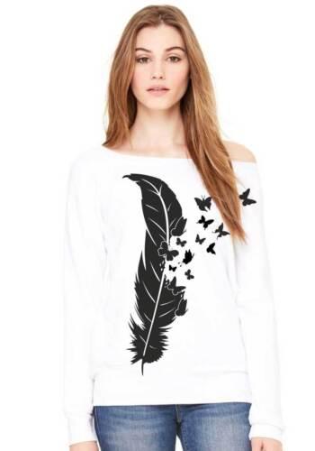 Felpa Pullover molla con Farfalle Butterfly Morbido Soffice Maglione