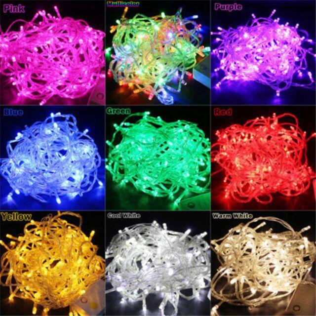 10M/20M 100/ 200 LED Bulbs Christmas Tree Fairy Party String Lights Waterproof