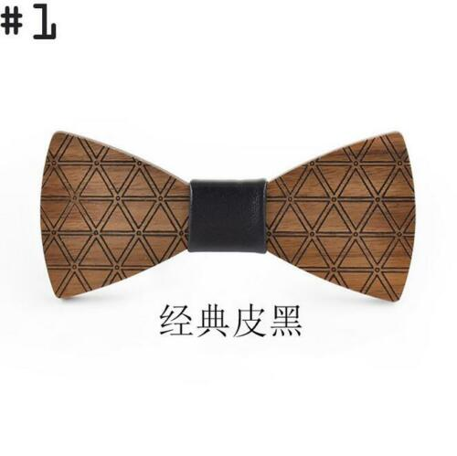 Handmade Wooden Bow Tie Fashion Men/'s Gifts Vintage Party Wood Tuxed Necktie Hot