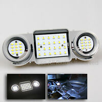 For Vw Golf Mk5 Passat Jetta Dome Map Led White Front Interior Light Bulbs+panel