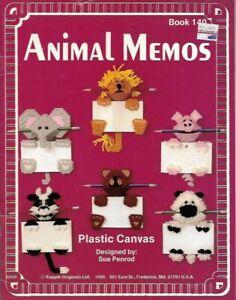 Animal-Memos-in-Plastic-Canvas-Kappie-Book-140-15-Designs-Sue-Penrod-1990