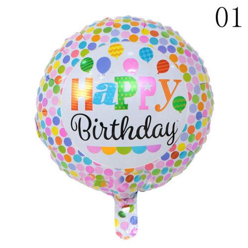 5x Happy Birthday Aluminiumfolie Ballons Geburtstag Hochzeit Dekoratio@ZP