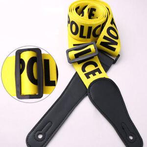 Linea-di-polizia-Cinghia-per-Chitarra-Giallo-per-le-chitarre-acustiche-FOLK-Bass-Chitarra-Elettrica