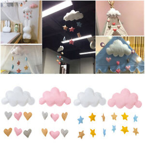 Details About Cloud Star Heart Diy Baby Nursery Decoration Wall Hanging Ornaments Photo Prop