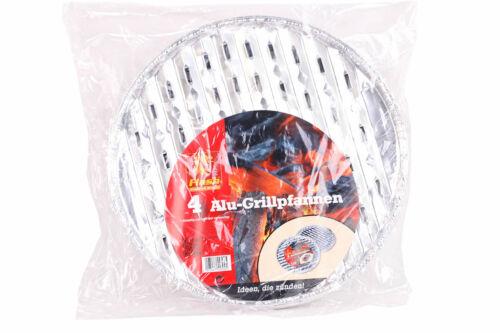 Flash Alu-Grillschalen 3 x 4 Stück  ∅ 34 cm rund